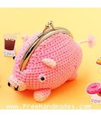 กระเป๋าโครเชต์ Pinny Gang Miss Pinky มิสพิงค์กี้ 5x3.5 นิ้ว