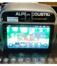 Alpha coustic จอAndroid ตรงรุ่นรถ Mitsubishi Mirage(Ram 2 GB / Rom 16 / 4 Core )