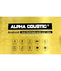 New 2 Din ALPHA COUSTIC จอ ISP 7 นิ้ว Android 9.1(กล่องทอง)
