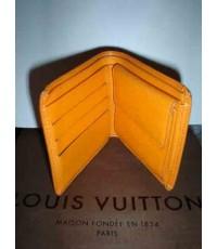 กระเป๋าเงินสตรี สีส้ม หลุยส์วิตตอง ลายไม้ รุ่นเอพิเลเธอร์ ของแท้ มือสอง