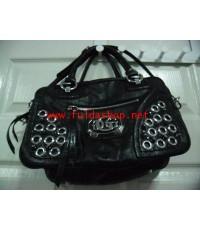 กระเป๋าถือ เกสส์ สีดำ **ขายไปแล้ว**สี่เหลี่ยม ตอกหมุดเงิน มือ2 ของแท้