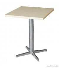โต๊ะเสาเดี่ยว ขา 4 แฉก ขนาด 75 x 75 x 75 ซม. (เสา Ø3 นิ้ว)