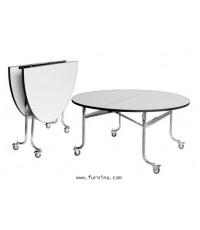 โต๊ะกลม พับครึ่ง รุ่น TR - 48 ขนาด Ø120 x 75 ซม.