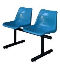 เก้าอี้แถวโพลีฯ รุ่น PP-102 แบบ 2 ที่นั่ง ขนาด 55 x 100 x 78 ซม.