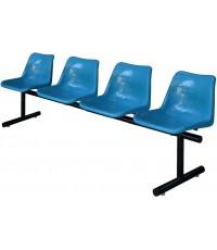 เก้าอี้แถวโพลีฯ รุ่น PP-104 แบบ 4 ที่นั่ง ขนาด 55 x 205 x 78 ซม.