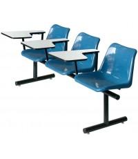 เก้าอี้แถวโพลีฯเลคเชอร์ รุ่น CLP-103 แบบ 3 ที่นั่ง ขนาด 74 x 174 x 78 ซม.