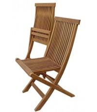 เก้าอี้พับ ระแนง ไม้สัก45*88