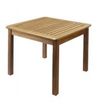 โต๊ะสนาม ระแนง ขาถอดได้ W80*L80*H75cm