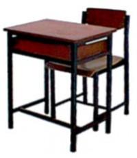 ชุดโต๊ะนักเรียน มัธยม A.4 เหล็ก 0.8 มม.(โต๊ะ60*40*75ซม.)**ราคาพิเศษเมื่อสั่ง50ชุดขึ้นไป