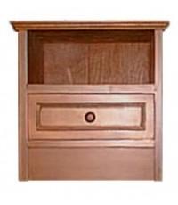ตู้หัวเตียง ลิ้นชักล่าง รางไม้ (รางเหล็ก+150)