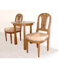 ชุดน้ำชา ( โต๊ะ 3 ขา + เก้าอี้ 2 ตัว)