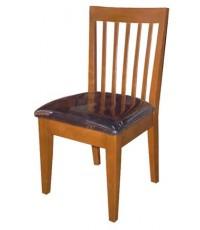 เก้าอี้ อาหาร ไม้ยางพารา หลัง 5 เส้น (สีพ่น+350)
