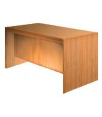 6' โต๊ะข้างทึบหน้าเรียบ ลิ้นชักล็อคตลอด (สีเดินผ้า) หน้าลูกฟัก+400