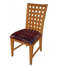 เก้าอี้ อาหาร หลังสาน ไม้ยางพารา (สีพ่น+400)