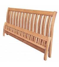 6' เตียง หัวแอ่น 26เส้นไม้สัก ข้างไม้สัก