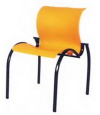 เก้าอี้ ตัวs ขาวงรีพ่นสีดำ (ม่วง ,เขียว ,ส้ม) 57.5*56*79ซม. (ขาชุบโครเมี่ยม+300)