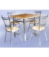 ชุด โต๊ะ เก้าอี้ อาหาร  NESTY Cromium (โต๊ะ75*75+เก้าอี้4ตัว) (ราคาพิเศษเมื่อซื้อ 5 ชุดขึ้นไป)