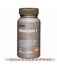 ยาช่วยเรื่องการนอนหลับ GNC MELATONIN 1mg รสเชอร์รี่