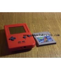 Gameboy Pocket ตัวเปล่า สีแดง จอไม่สวย + 1 เกม ตามรูป