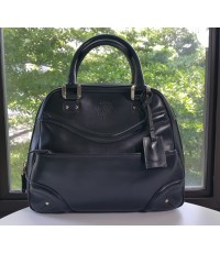 Gucci Black Leather Zip Dome Satchel Bag /Gucci 140696