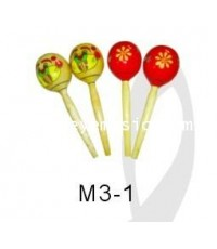 ของเล่นดนตรีเด็ก wooden maracas หนึ่งคู่รุ่น M3-1