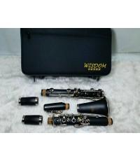 คาริเน็ท ยี่ห้อ WISDOM รุ่น FCL-210 N สีเงิน คุณภาพดี พร้อมกล่องและอุปกรณ์