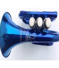 พ็อกเก็ตทรัมเปทสีน้ำเงิน พร้อมกล่องและอุปกรณ์