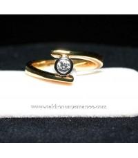 แหวนทองคำ 90.0 หนัก 5.00กรัม ประดับเพชร 0.16 กะรัต