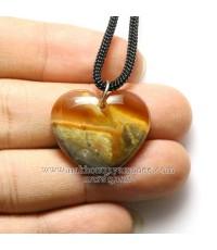 จี้คาร์นีเลียน รูปหัวใจ