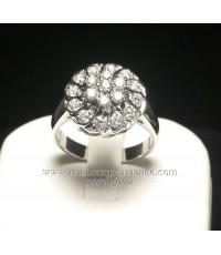 แหวนทองคำ 90.00 ชุบทองคำขาว  ประดับเพชร 0.95 กะรัต ดีไซน์หรู