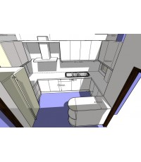 งานออกแบบตู้ครัว ยังไม่ได้ลงสี