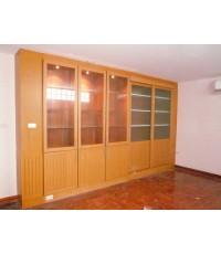 ตู้เสื้อผ้าบิวท์อิน built in ไม้สักทำสี