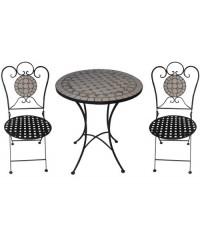 TEARATE โต๊ะโมเสค HB-364T+เก้าอี้ HB-364C