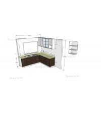 ชุดครัว Built-in ตู้ล่าง โครงซีเมนต์บอร์ด หน้าบาน PVC ลายนอน