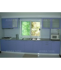 ชุดครัว Built-in ตู้บน + ล่าง หน้าบาน Laminate