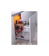 ตะแกรงอเนกประสงค์ ติดหน้าลิ้นชัก ขนาด 30, 40 ซม. มีถาด (TOT-300B-400B)