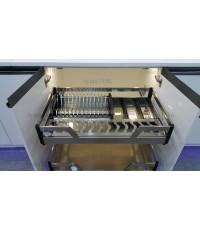 ตะแกรงอเนกประสงค์ สแตนเลส ใส่จานชาม ขนาด 60, 80, 90 ซม.(QGS-600E-800E-900E)