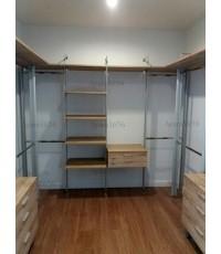 Walk in Closet - U Shape สี Loft Graceful Oak