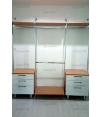 Walk In Closet - I Shape Melamine สีบีช + Acrylic สีขาวนวล