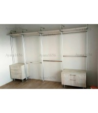 Walk In Closet - I Shape Melamine สี Tundra Forest
