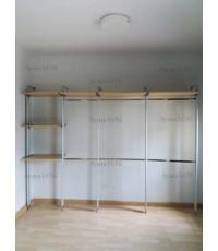 Walk in Closet - I Shape Melamine สีเมเปิล