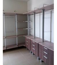 Walk in Closet - U Shape สี French Oak + Milano Wood