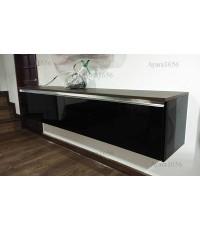 ตู้ TV โครงปาติเกิล หน้าบาน Acrylic สี  สีดำเงา