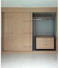 Walk in Closet - I Shape Melamine สีเมเปิ้ล