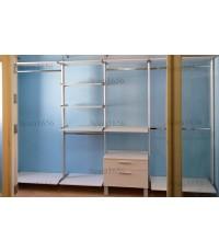 Walk in Closet - I Shape Melamine สีขาวเงา