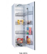 ตะแกรงอเนกประสงค์ สแตนเลส ตู้สูง บานเปิด 3, 5 ชั้น ขนาด 60 ซม. (TGM-603S-605S)