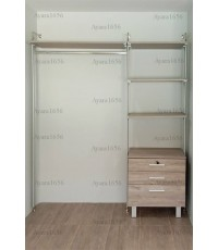 Walk in Closet - I Shape Melamine สี Pastel Oak