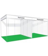 พรมอัดเรียบ จัดบูธ ขนาด 3x3 เมตร (9 ตรม.) GC03 สีเขียว ปูได้เลย