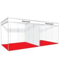 พรมอัดเรียบ จัดบูธ ขนาด 3x2 เมตร (6 ตรม.) GC01 สีแดงสด ปูได้เลย