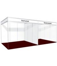 พรมอัดเรียบ จัดบูธ ขนาด 3x2 เมตร (6 ตรม.) GC02 สีแดงดำ ปูได้เลย